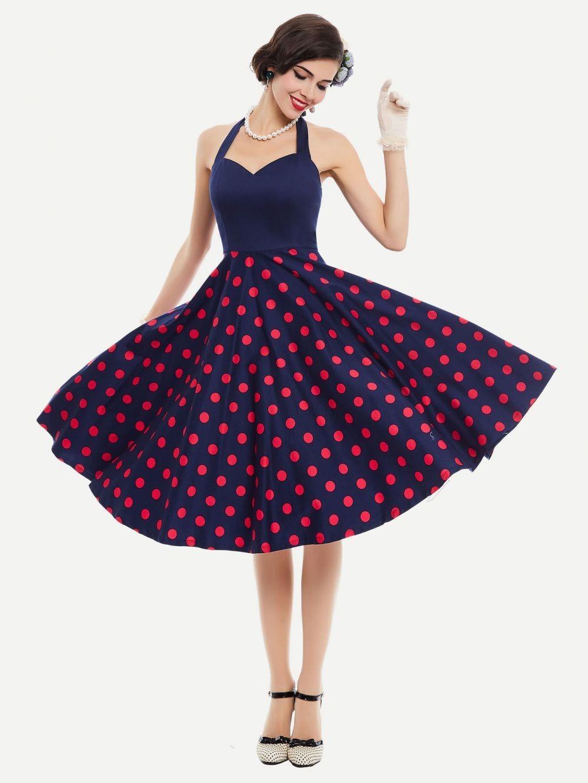 Платье в горошек модное 3