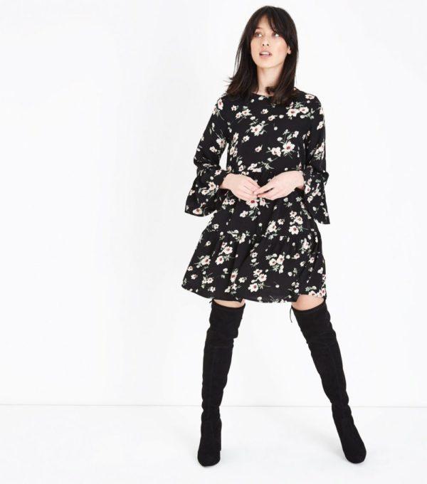 Модные платья 2019-2020 на каждый день: в цветочек