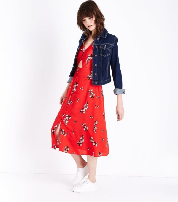 Модные платья 2021 на каждый день: красное
