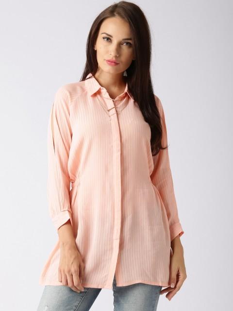 модная сорочка: Удлиненная розовая