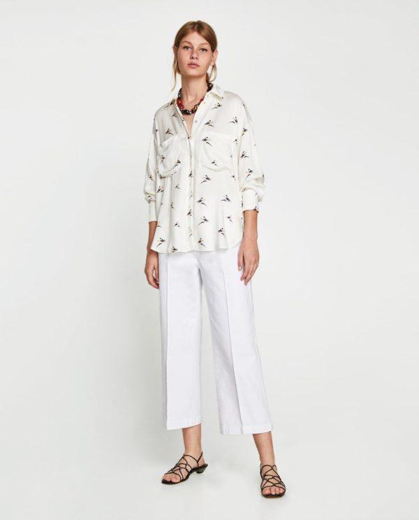 Модные женские рубашки 2018-2019: белая