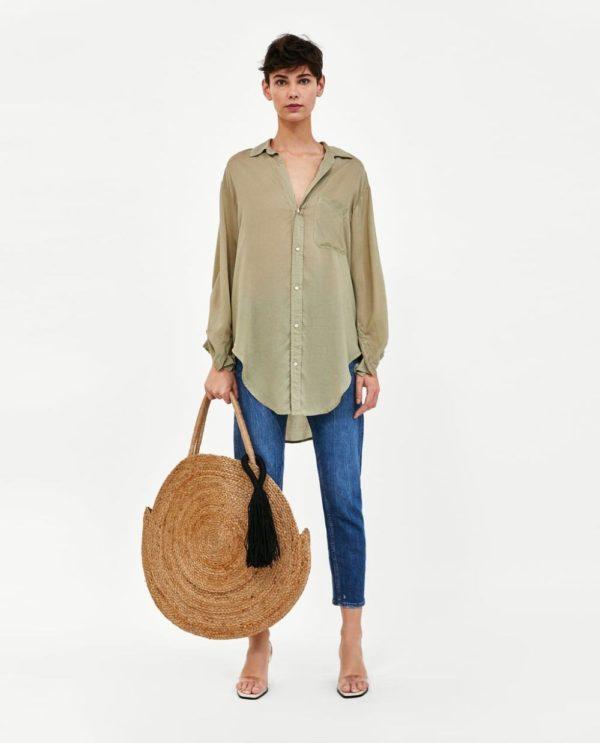 Модные женские рубашки 2018-2019: зеленая