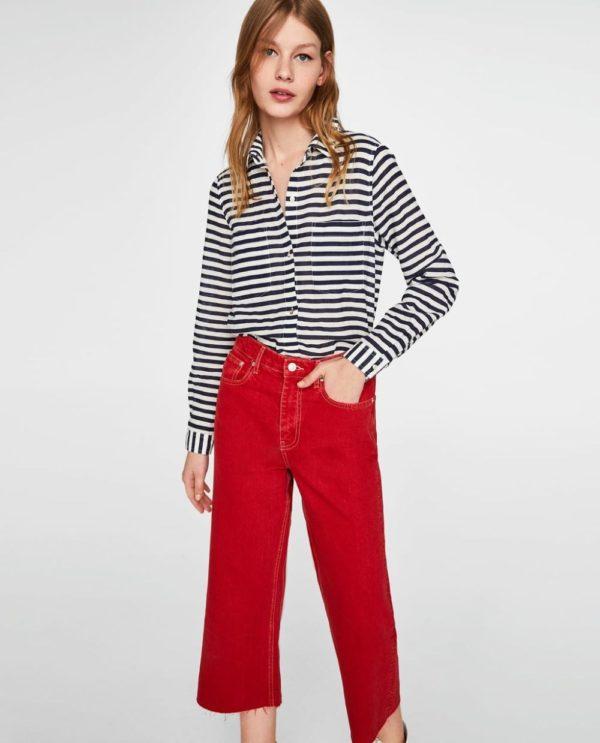 Модные женские рубашки: в полоску