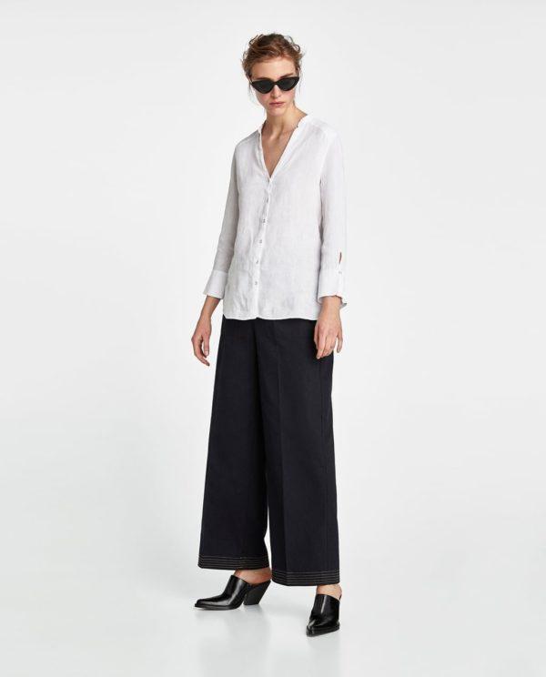 женские рубашки: белая