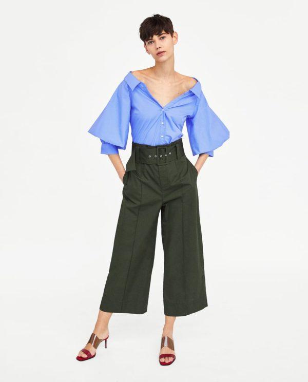 модные рубашки для женщин: синяя