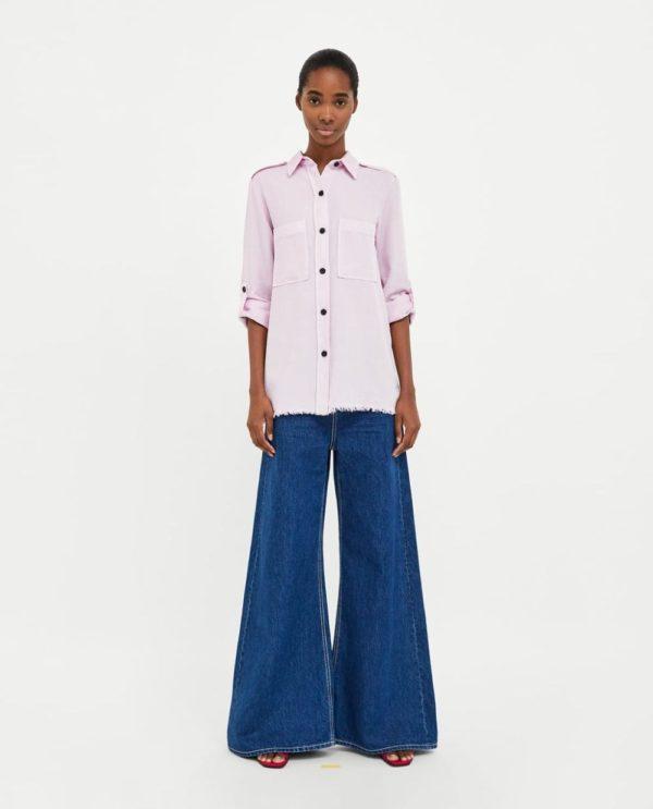 модная женская рубашка: розовая
