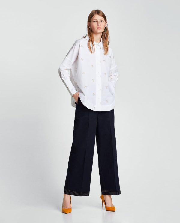 модная женская рубашка: белая