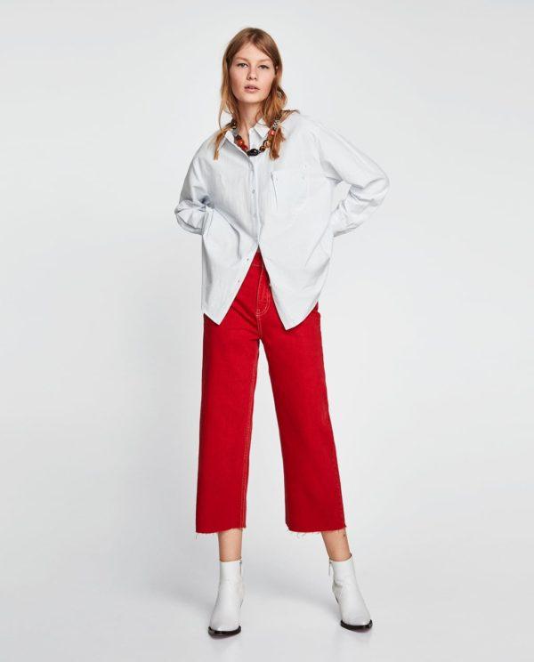 модная женская рубашка: белая оверсайз