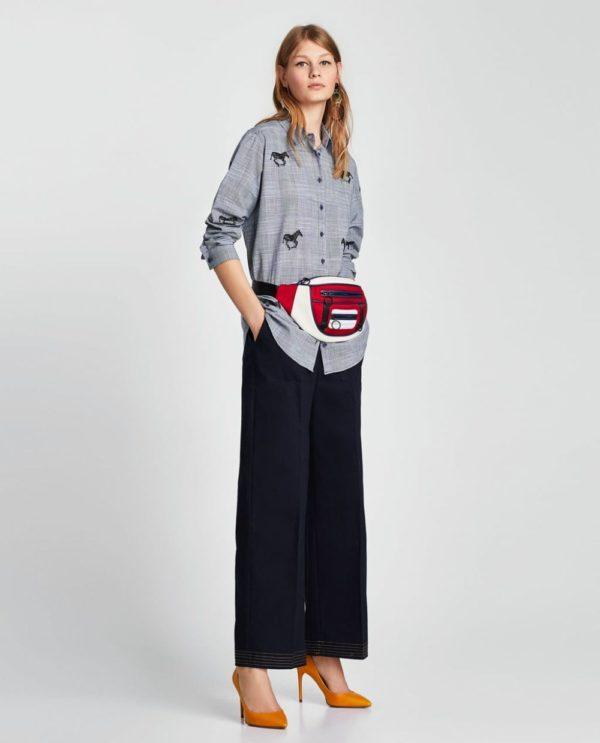 модная женская рубашка: серая