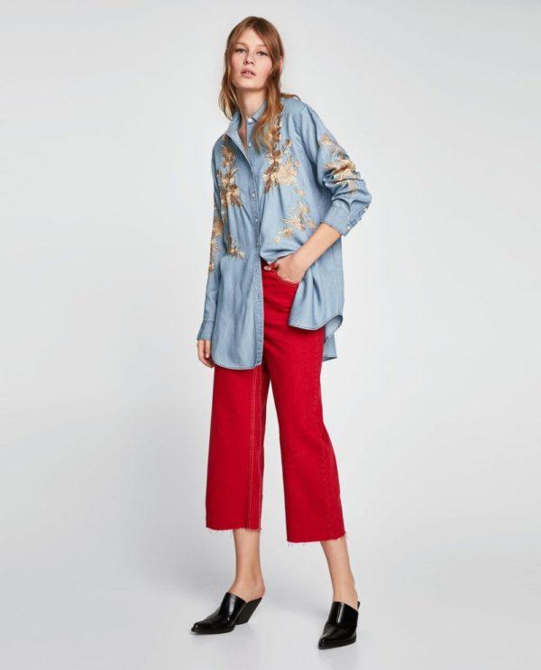 модная женская рубашка: с узорами