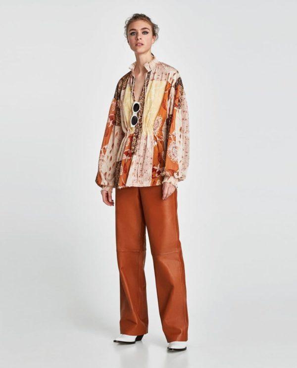 модная женская рубашка: Удлиненная с принтом