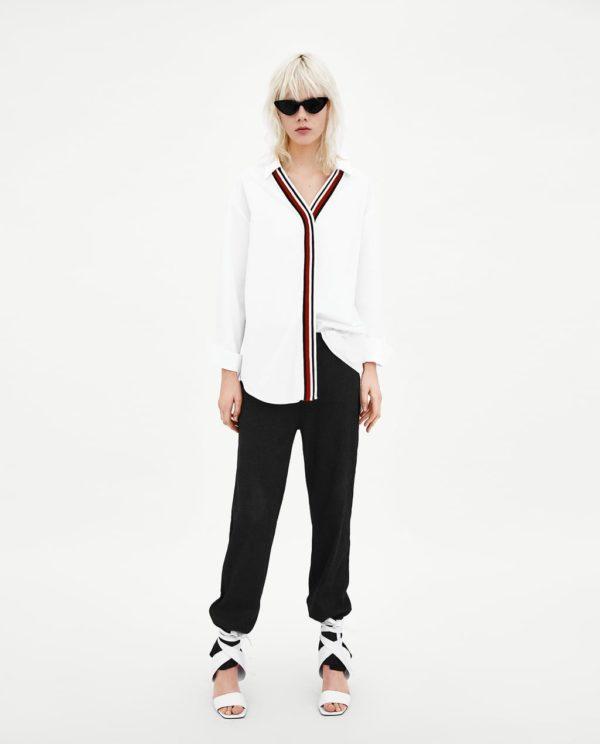 модная женская рубашка: Белая удлиненная