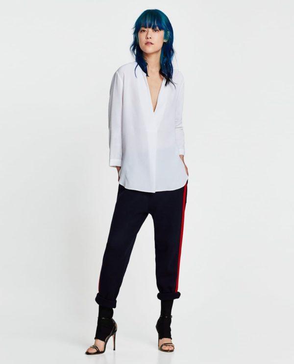 модная женская рубашка: Удлиненная белая