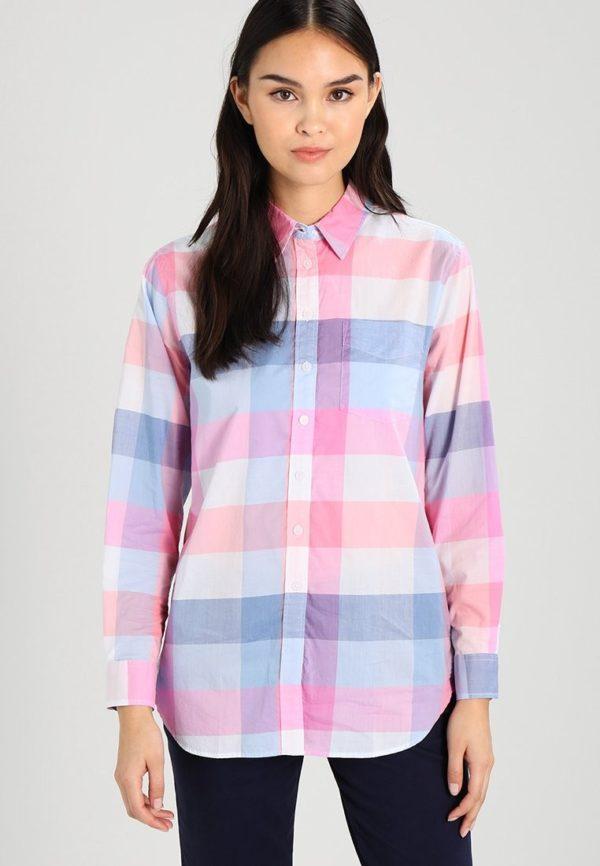 модная сорочка: Удлиненная в клетку