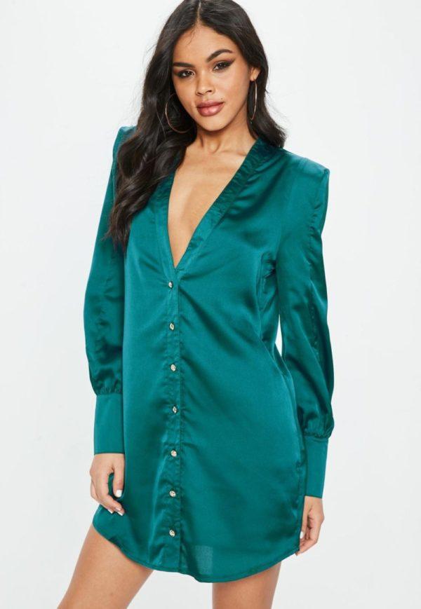 модная сорочка: зеленая