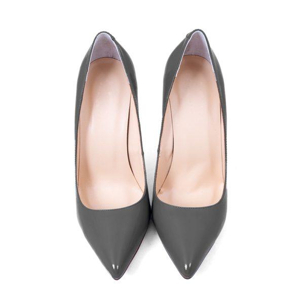 Модные женские туфли: серые лодочки