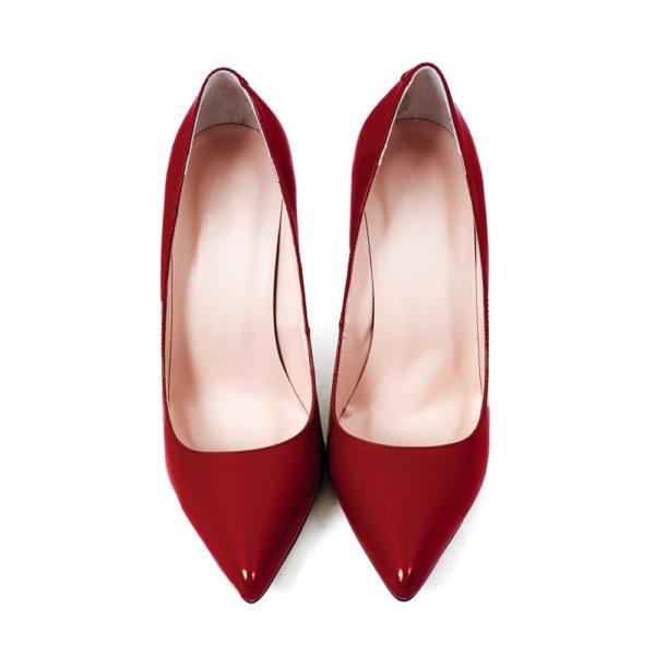 Модные женские туфли: бордовые лодочки