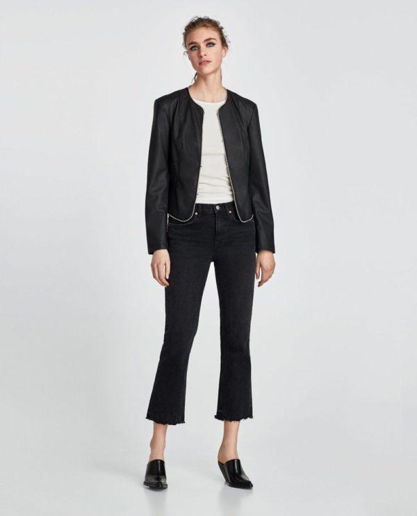 Модные женские пиджаки 2018-2019: черный с ободком