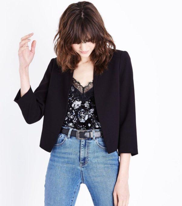 Модные женские пиджаки 2018-2019: Укороченный черный