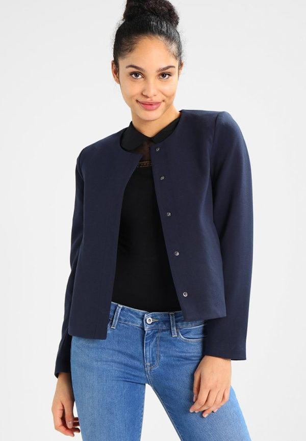женские пиджаки: Укороченный темный