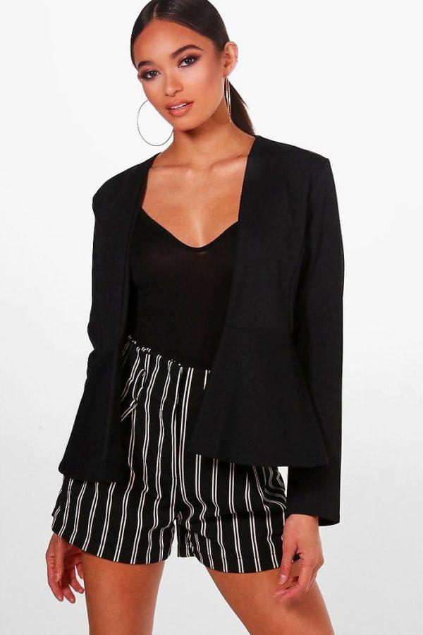 женские пиджаки: пеплум черный