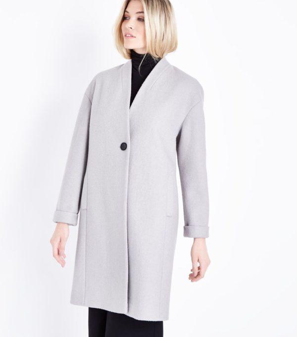 женский жакет: Удлиненный серый