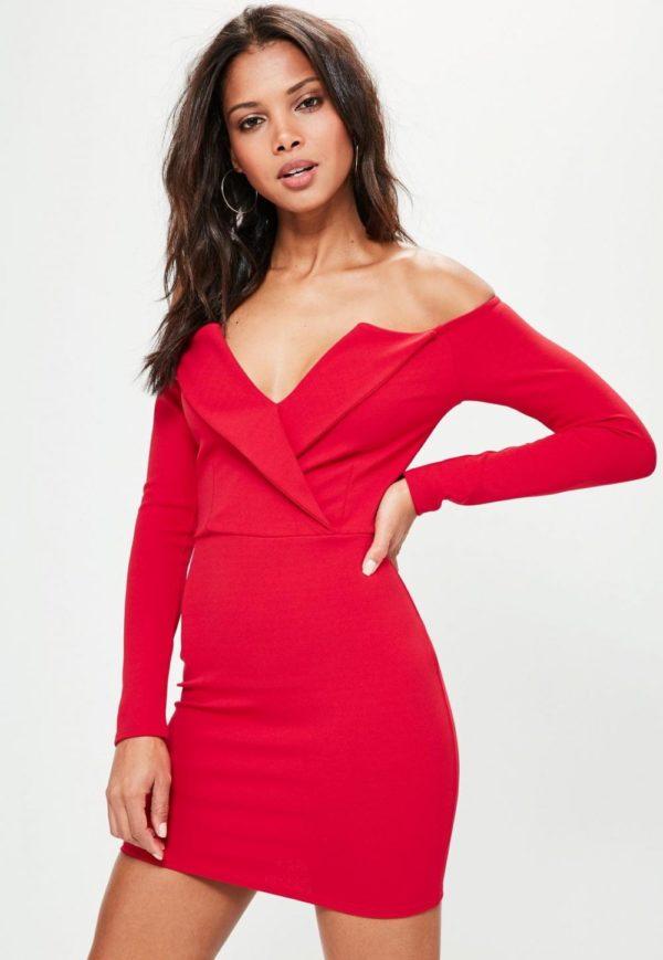 Платья 2019-2020: красное бюстье