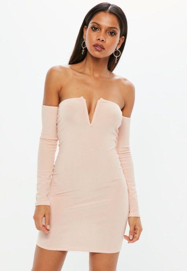 Платья 2018-2019: розовое бюстье