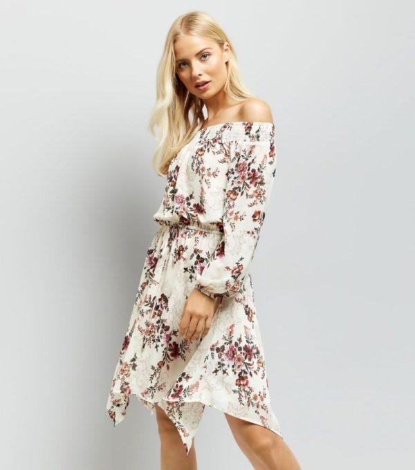 Шифоновое в цветок платье