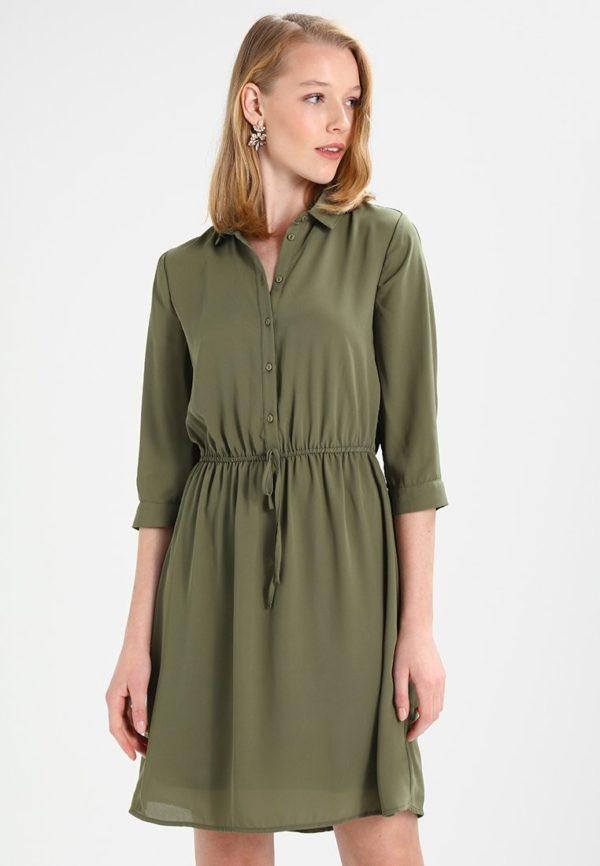 Шифоновое цвета хакки платье