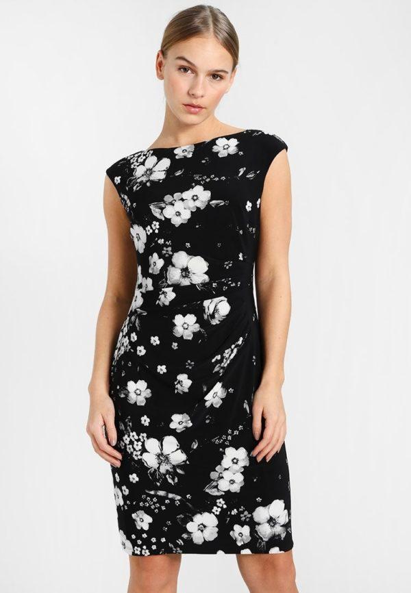 Офисное черное платье