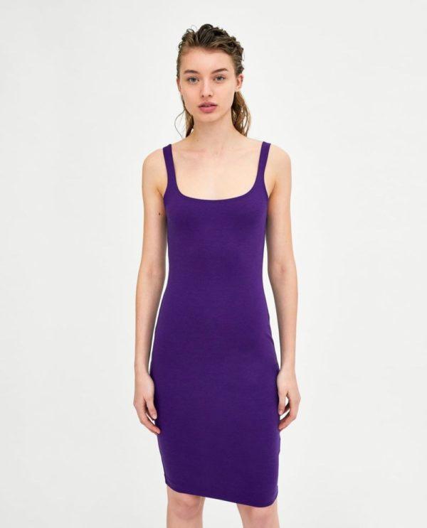 Платья 2018-2019 года: фиолетовое