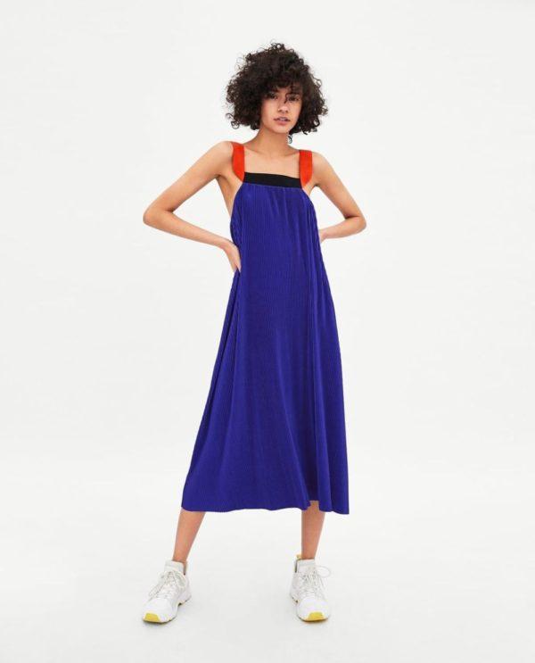 Платья 2018-2019 года: синее