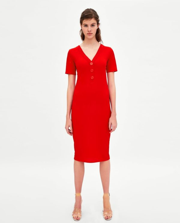 Платья 2018-2019 года: красное