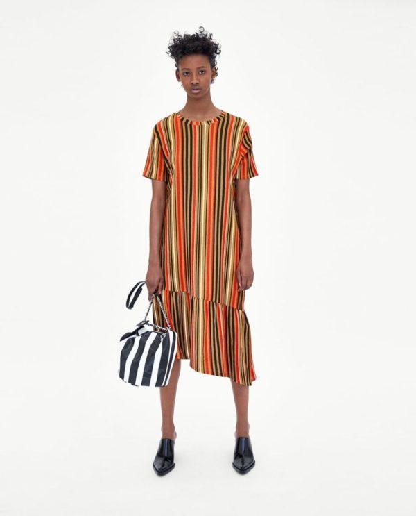 Платья 2018-2019 года: полосатое