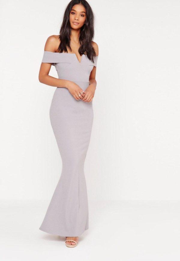 Выпускные платья 2019 11 класс: футляр светло-серое длинное