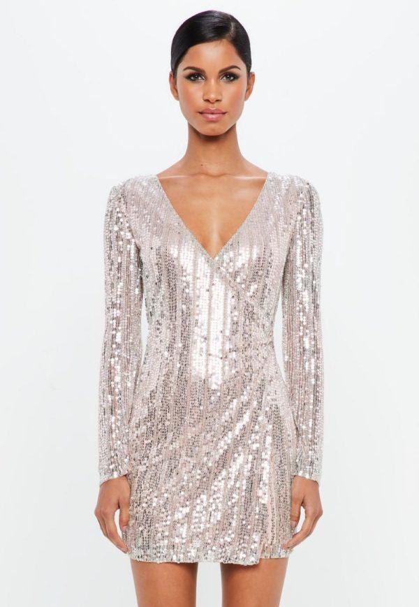 Выпускные платья 2019 11 класс: серебристое блестящее