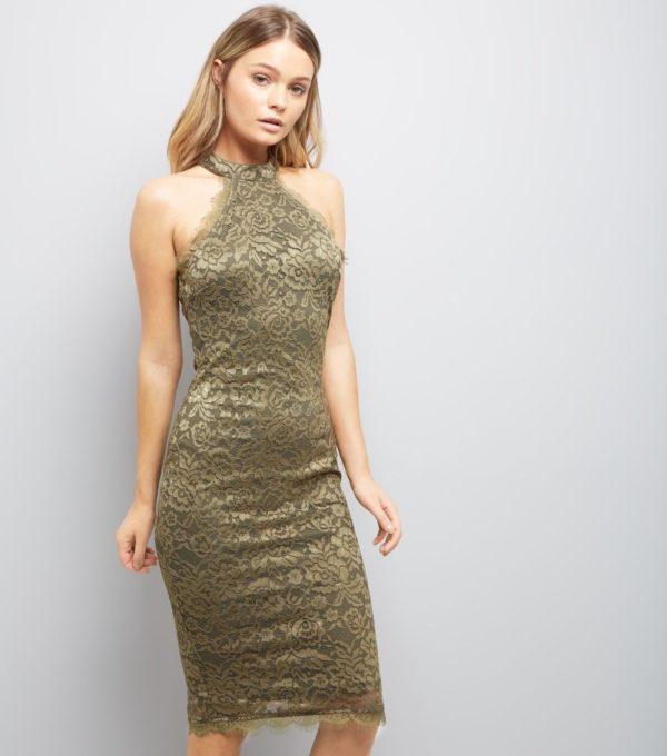 Платья на выпускной 2019 11 класс: оливковое с рисунком