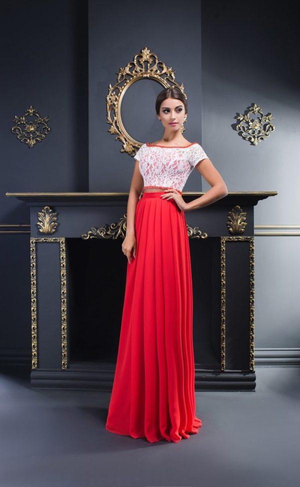 Выпускное платье: Раздельное красное