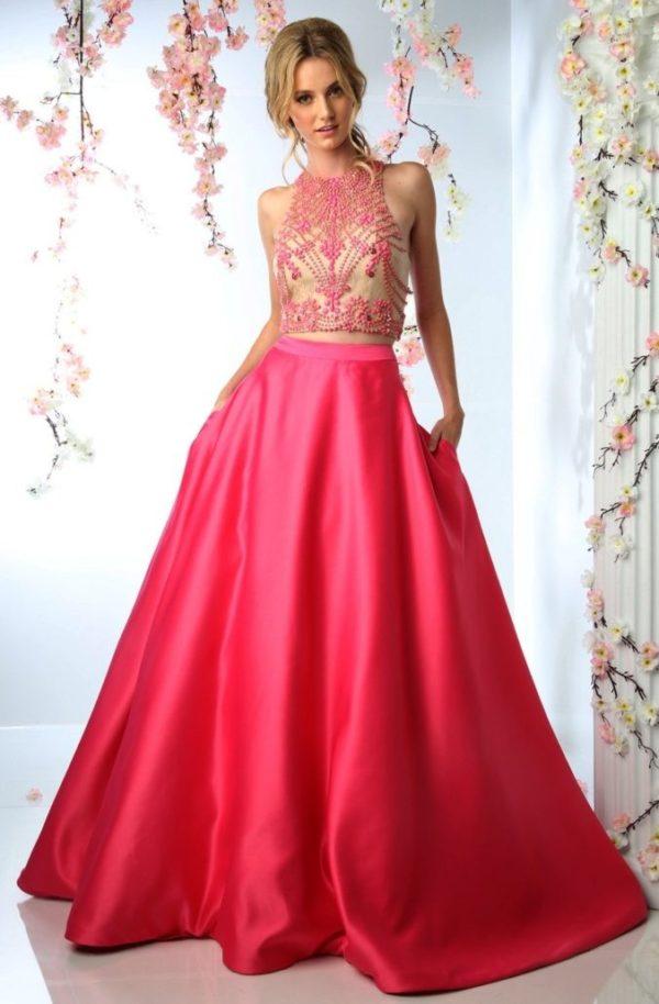 Выпускное платье: Раздельное розовое