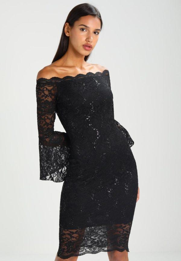 Выпускное платье: Коктейльное черное кружевное