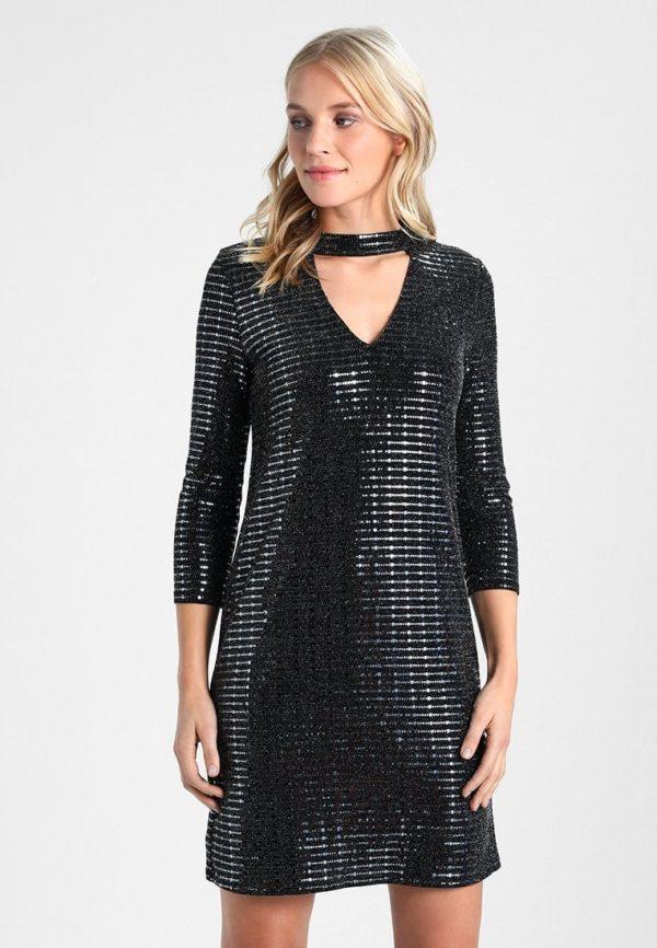 Выпускное платье: Коктейльное темное блестящее