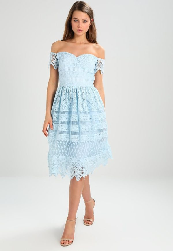 Выпускное платье: Коктейльное голубое