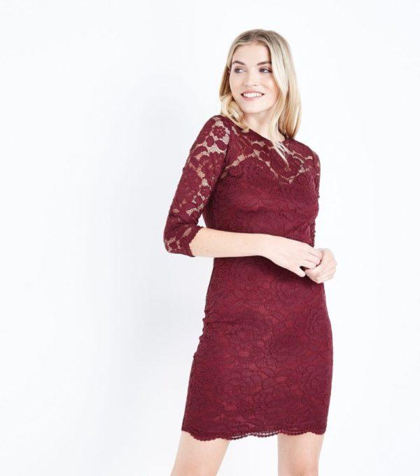 Платья на выпускной 2019 11 класс: бордовое кружевное