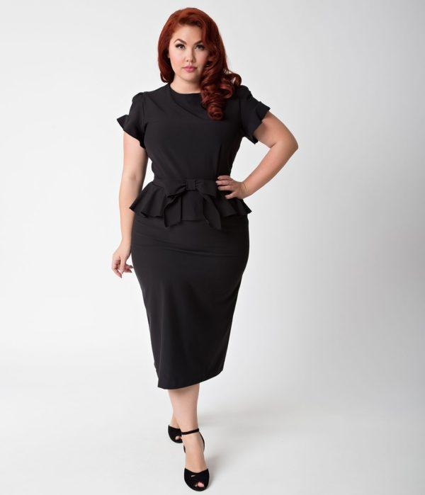 выпускное платье: черное ретро