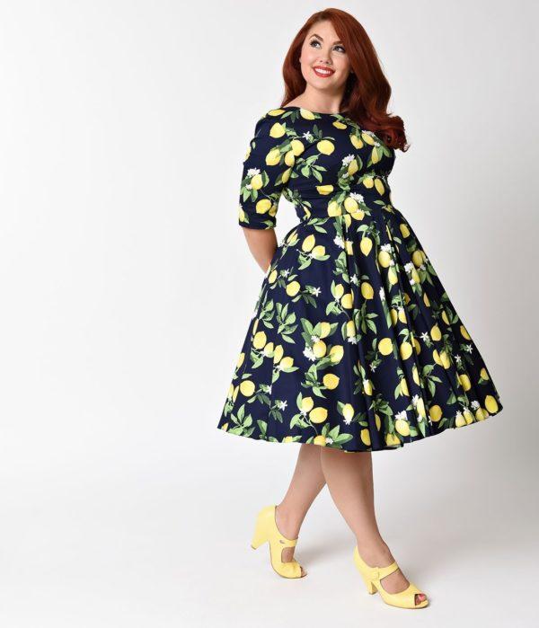 выпускное платье: черное с желтым рисунком