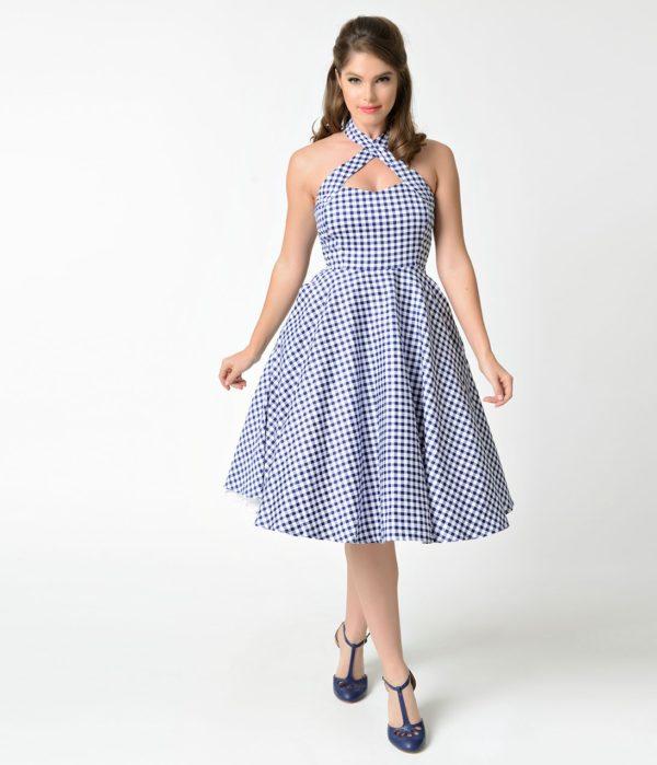 выпускное платье: в клетку ретро