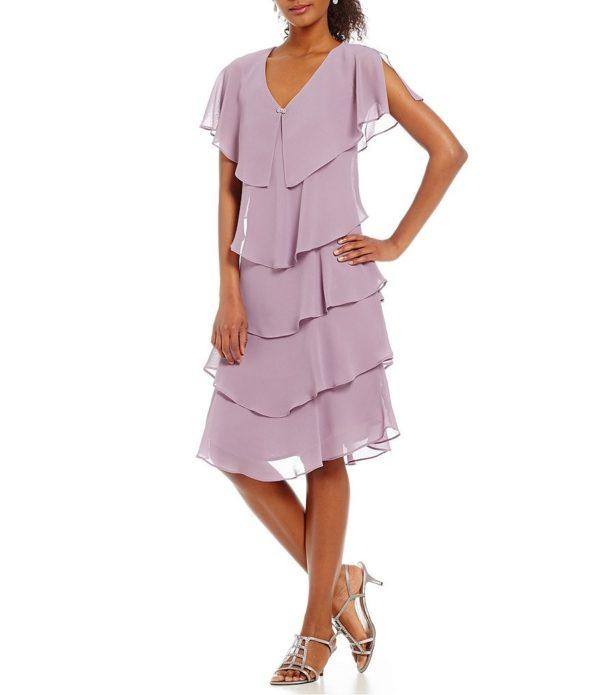 выпускное платье: Коктейльное лиловое