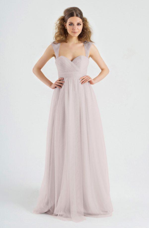 выпускное платье: в пол фиолетовое