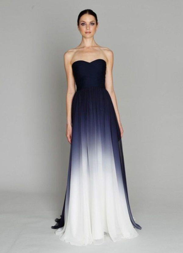 выпускное платье: в пол светло-темное градиент